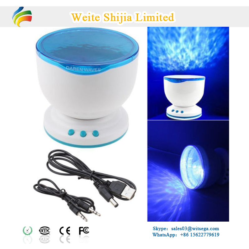 Best Gift Ocean Wave Projector Led Night Light With Music Player ...