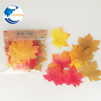factory price silk maple leaves artificial Autumn maple leaves 50pcs