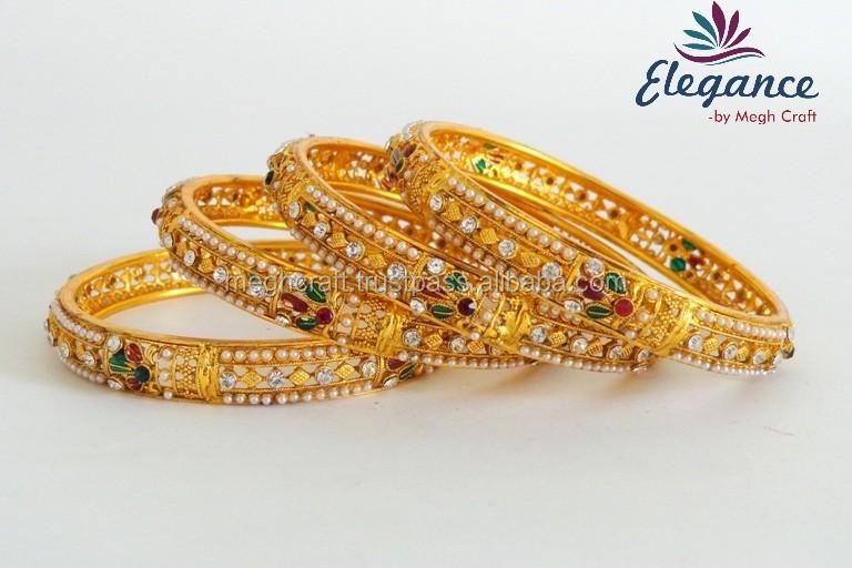 Indien ethnique plaqué or bracelet,Gros kundan polki bracelet,De Mariage porter bracelet