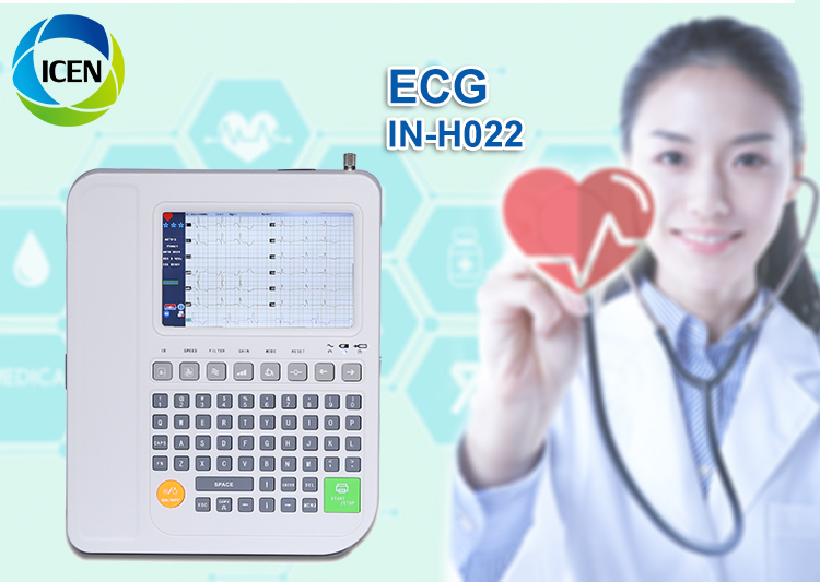 IN-H022 High Quality New Stress test 12 Channel Portable Electrocardiograph ECG Machine