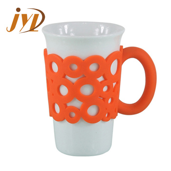 93ac64d53808 16oz coffee ceramic travel mug with silicone lid and sleeve, View ...