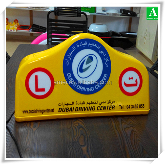 Manufacture OEM vacuum forming plastic taxi light box