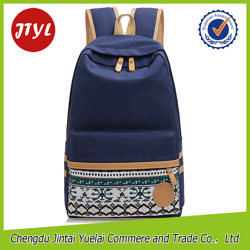 Fashion Canvas Cloth Blue Backpack