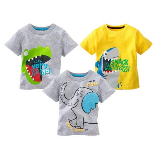 Cartoon Elephant Kid/'s T-Shirt Children Boys Girls Unisex Top