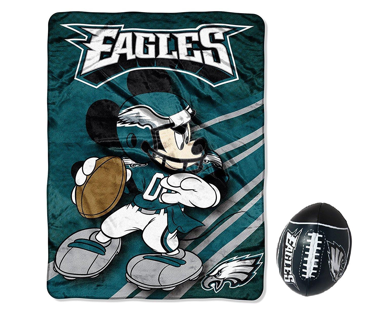 67c455f9 Get Quotations · NFL Philadelphia Eagles Mickey Ultra Plush 46