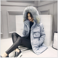 S31195A 100%duck down women jacket with big fur collar fashion European winter down coat