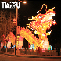 2019 Tianfu lighting christmas decoration santa display outdoor lantern festival silk cloth Chinese lanterns