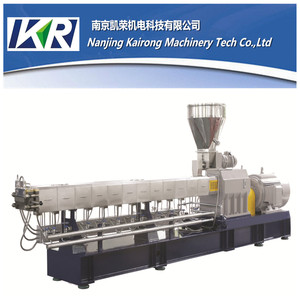 Nylon With Glass Fiber Granulator Plastic Granule Extrusion Machinery Laboratory Extruder Water Strand Pelletizing Line