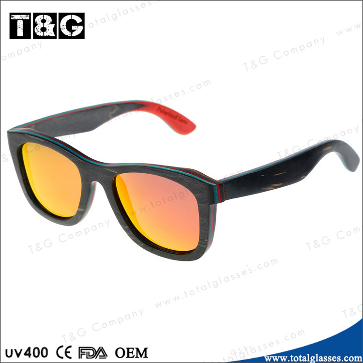polaroid sunglasses price  Polarized Sunglasses Wood Frame Mirror Lens Sun Glasses Good Price ...