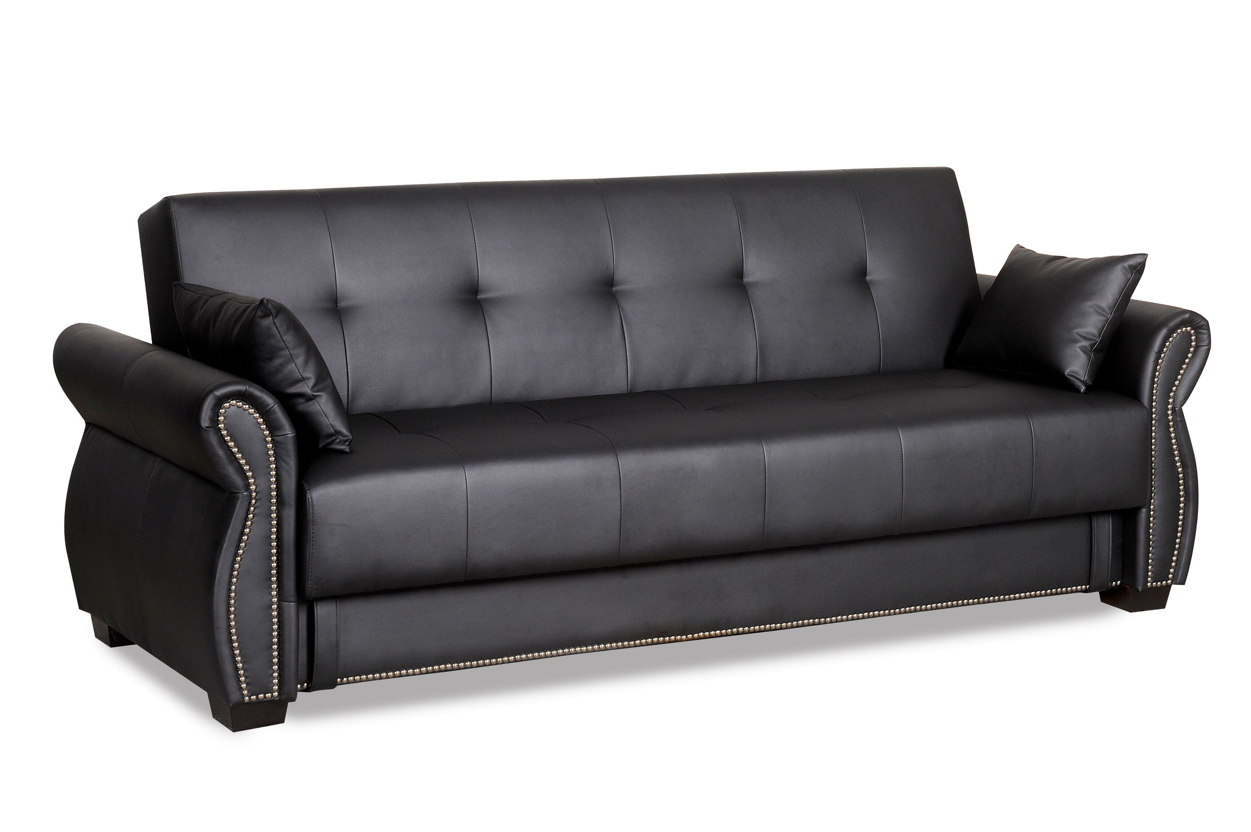 Serta Dream Convertibles Seville Sofa Ebony