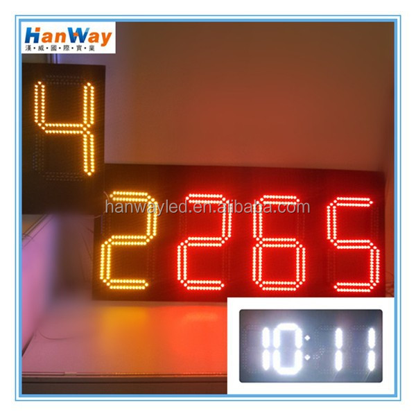 NEW Digital clock 6 digit easy operation bright led clock display