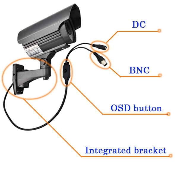 Wholesale 3.0Megapixel Bullet Security CCTV Camera Waterproof