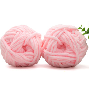 Wholesale BSCI standard 100% polyester chunky chenille yarn with soft touch
