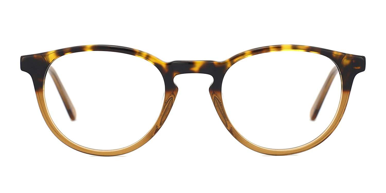c954c465f99f TIJN Retro Women Horn Rimmed Round Eyeglasses Non Prescription Glasses  Frames
