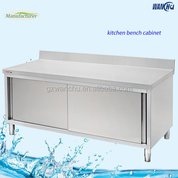 Stainless steel kitchen bench cabinet china factory for Kitchen cabinets 800mm