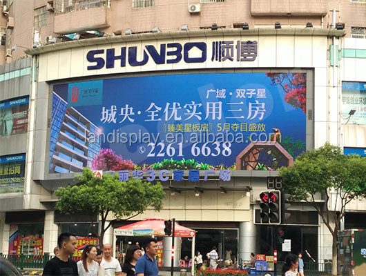 Big shopping mall P6 outdoor full color led screen advertising board