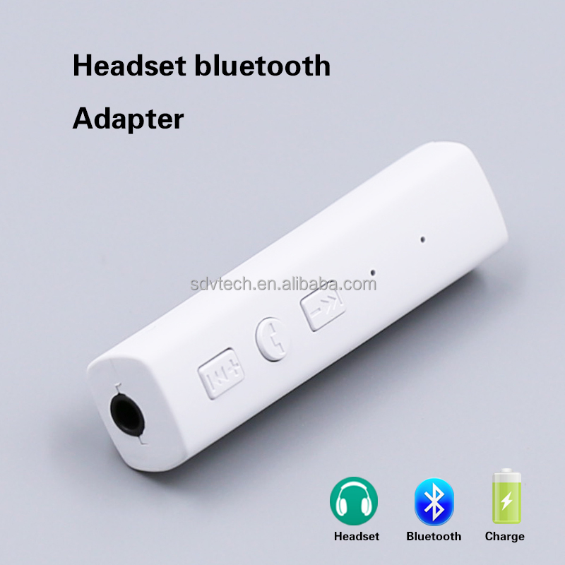 New Sports Bluetooth Headphones Receiver Adapter Earphone Audio Wireless Adapter With Mic For 3.5mm Jack Headphones