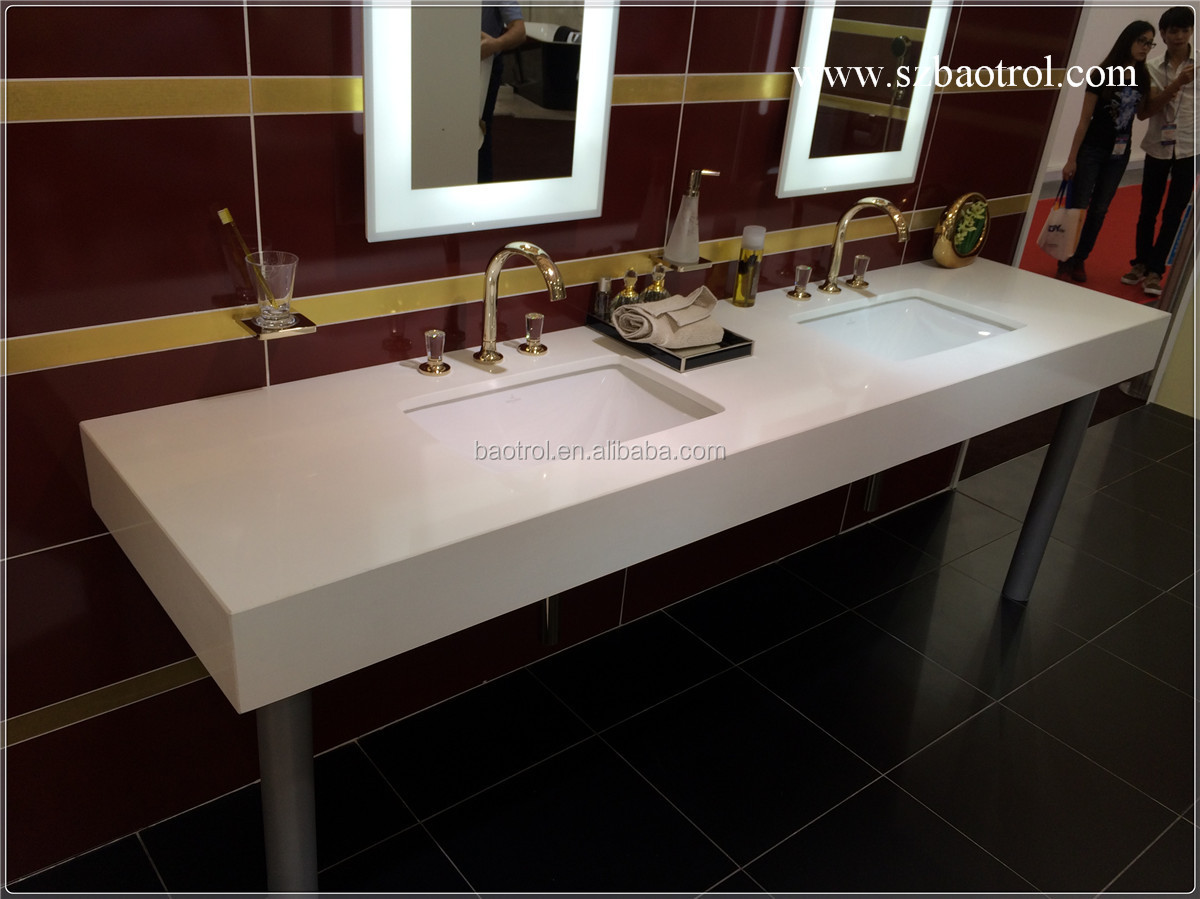 Hottest White Cultured Marble Vanity Tops/double Sink Marble Vanity  Top/bathroom Vanity Tops