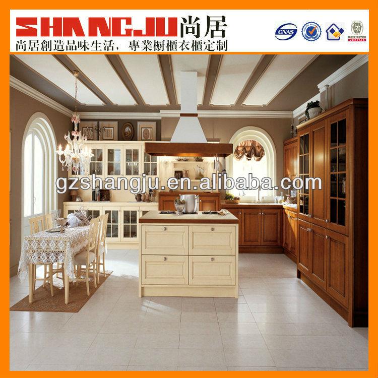 Houtnerf laminaat keuken kasten havebrown hoge kast witte kleur ...