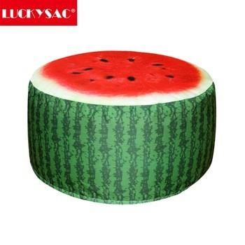 Cartoon Style Inflatable Stools Pouf Chair Seat Bedroom Watermelon Style Air Pouf