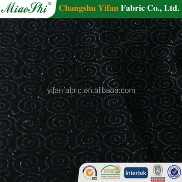 shiny velvet sequin fabric for shoes and clothes india market