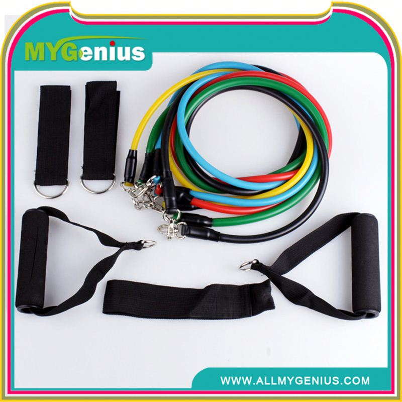 11pcs fitness latex resistance bands exercise set ,h0tjuq fitness resistance band