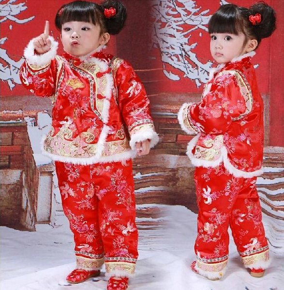 36d3e7044 free shipping christmas kids clothing sets baby new years day outfit with  chinese red tang suit