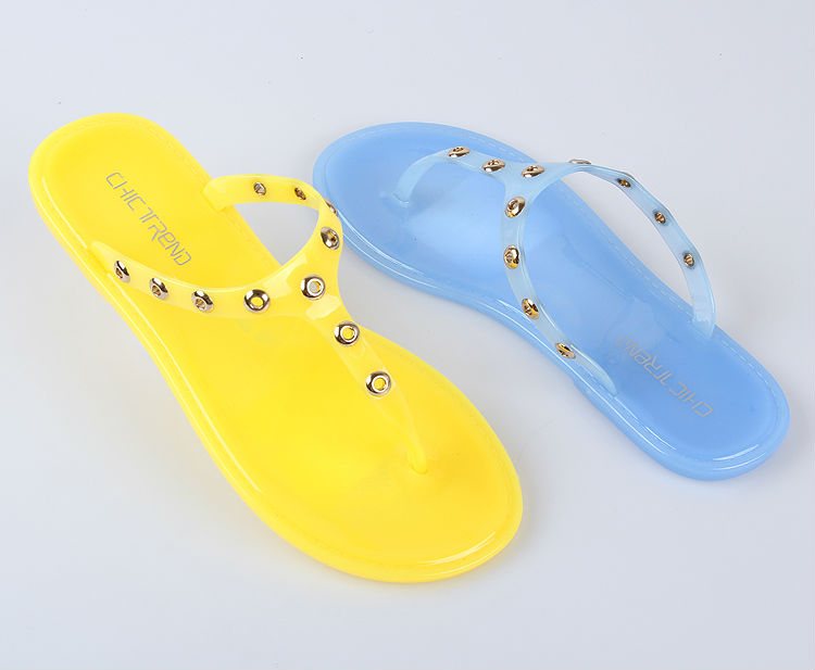 2015 Sweet Girl Summer Beach Wholesale Candy Color Jelly Slippers ...