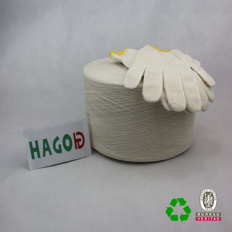 recycled cotton yarn manufacturers Ne 5s blended glove yarn