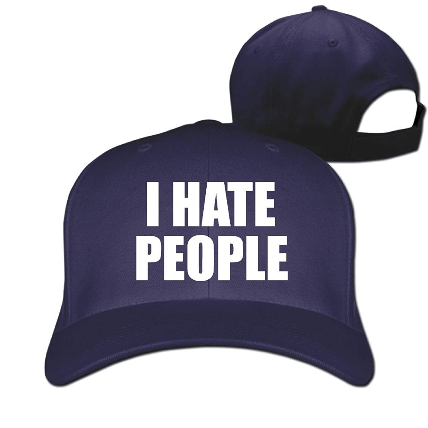 5d5b1f655187c Get Quotations · HOT BOOS Men and Women I Hate People 1 Hip Hop Dad Hat