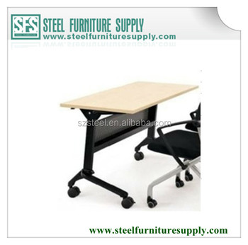 Modular Fashion Office Folding Table With Chairs Foldable Tables Wheel
