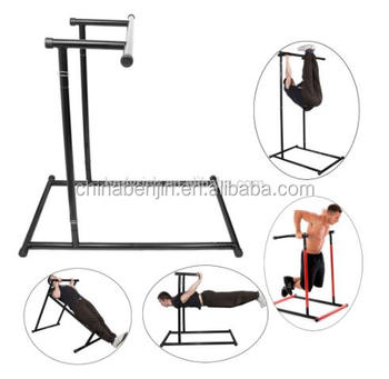 Home Office Gym Equipment Indoor Fitness Rack Leg Raises Pull Up Bar Dips  Tricep Handstands Squat