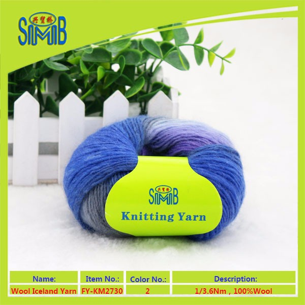 China factory SMB new products 100% wool yarn with 1 ply