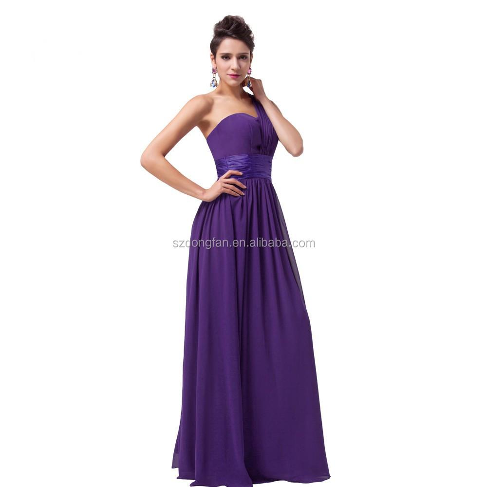 Moda De Alta Calidad Nuevo Diseño Elegante 2016 Púrpura Larga De La ...