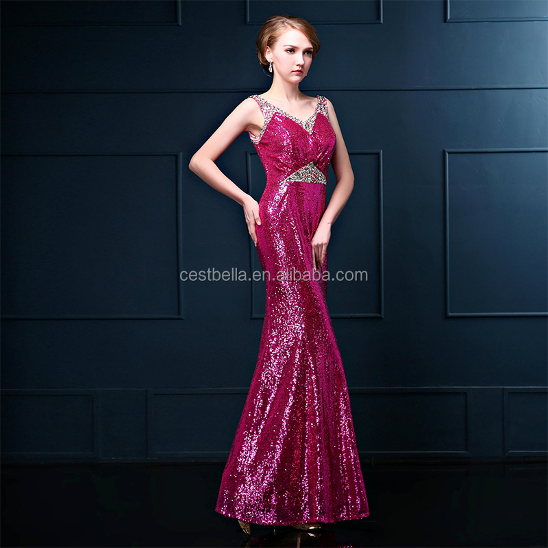 Gorgeous Beaded Mermaid Long multicolor Evening Dress Guangzhou
