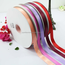 Solid Single satin ribbon 100 yard 당 롤 도매 satin ribbon