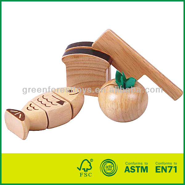 Wooden food toy