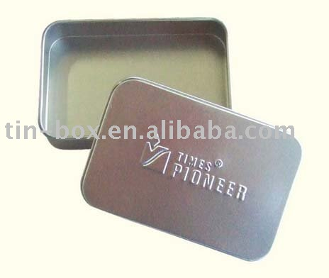 Lighter embossing rectangle tin box