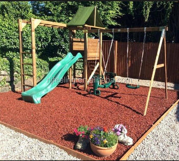 Swing Set Ground Padding Shredded Rubber Mulch Suppliers Fn P1811137