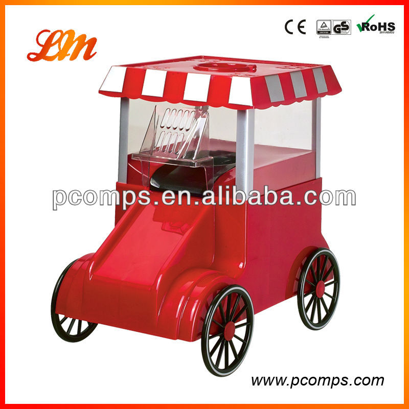 Popcorn Machine With Red Wagon Preparation without Oil