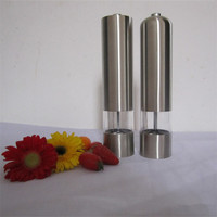 China Sea Salt mini Grinder Manufacture Wholesale Stainless Steel hand made salt and electric pepper grinder set