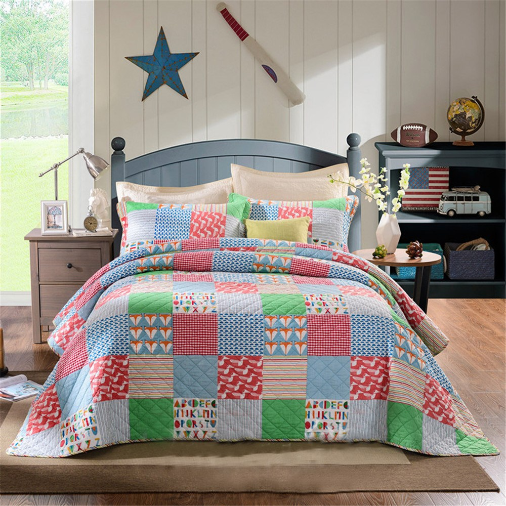 Bed sheets designs patchwork - 2016 Beautiful Design Quilt Patchwork Bed Sheet