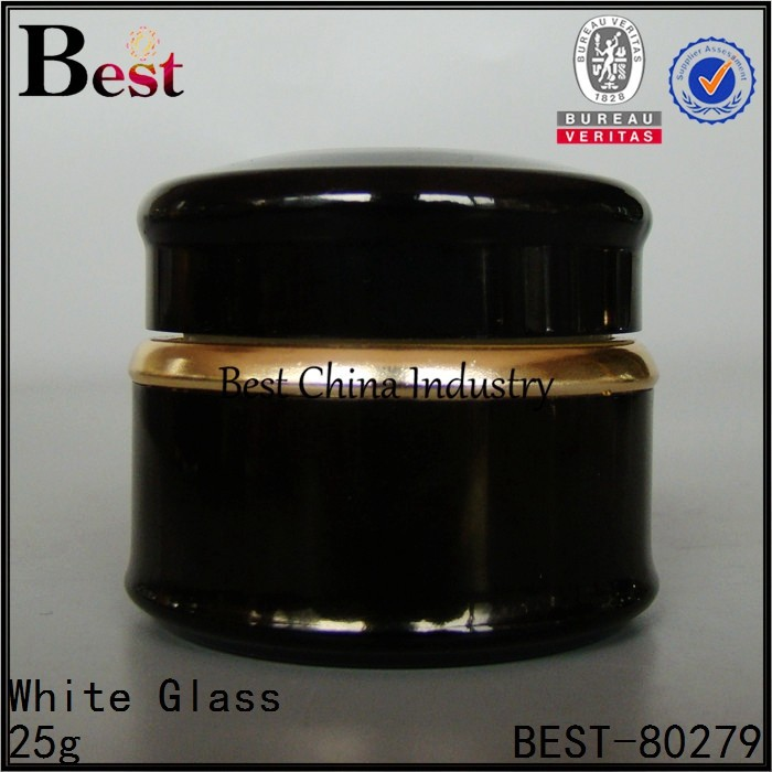 round shape black aluminum jar 25g 10g 30g 50g cosmetic cream metal container free sample, in China