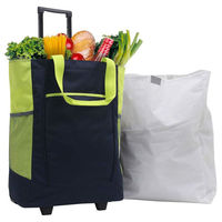 Rolling shopper tote/Traveler Rolling Tote with PVC Free Removable Leak Proof Liner