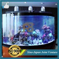 artificial cylinder aquarium tank acrylic/acrylic fish aquarium