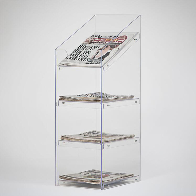 newspaper rack for office. Office Furniture Magazine Holder Detachable Acrylic Newspaper Display Rack For E