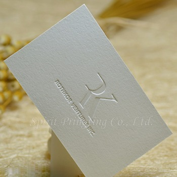 Debossed Business Card Printing Color Changing Cards