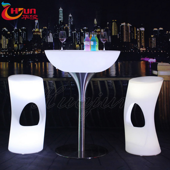 Wholesale Nightclub Furniture Color Changing Illuminated Led Table And  Chair Set