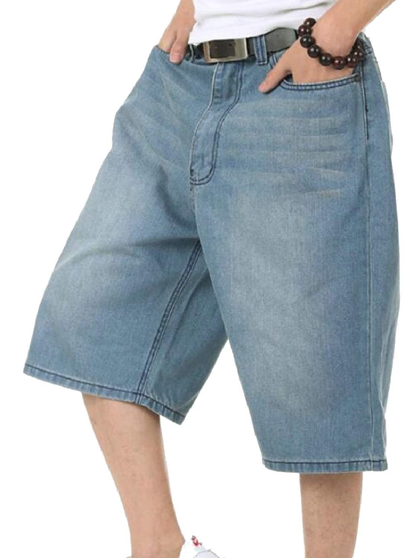 YYG Women Ripped Holes Hip Hop Loose Fit Plus Size Casual Denim Shorts Jeans