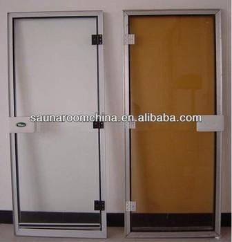 Bath Room Glass Doors With Aluminium Frame For Steam Sauna 1860 760
